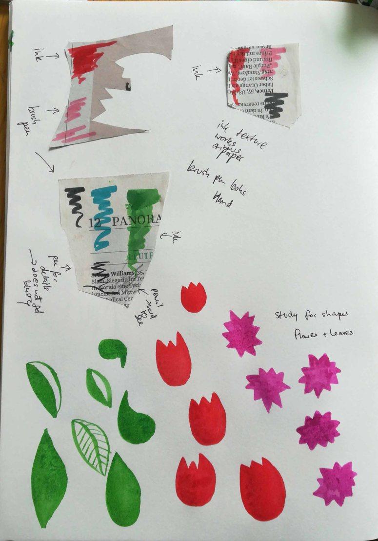 shapes, colour study, texture, study