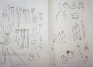 drawing, painting materials