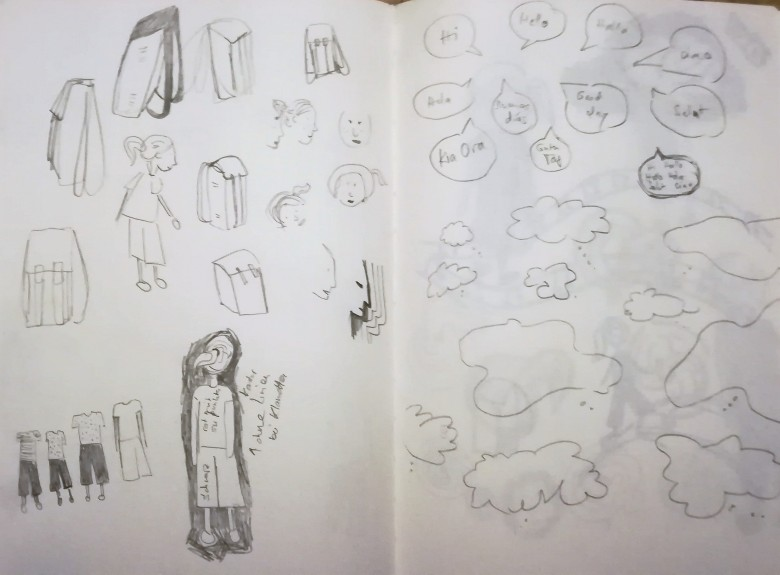 detail study, sketch