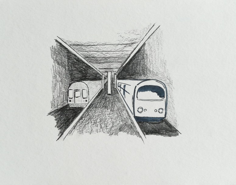 New York subways; Illustration
