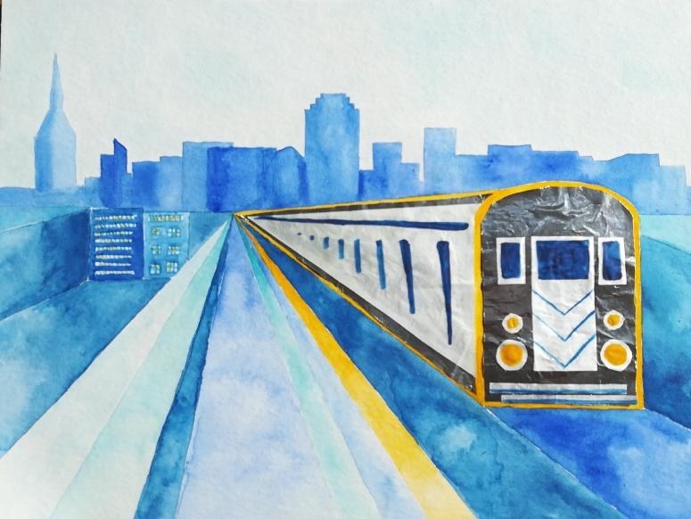 New York subway illustration