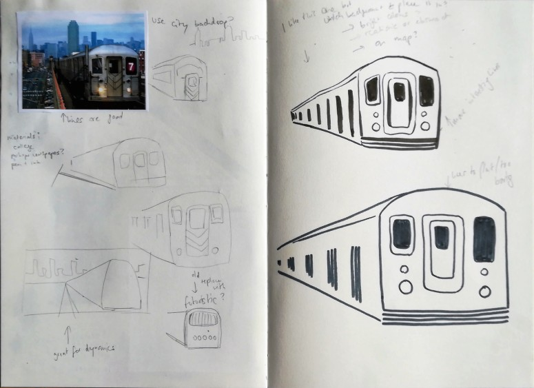 New York subway sketches