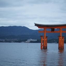 Floating shrine near Hiroshima