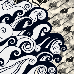 Sea with pattern background