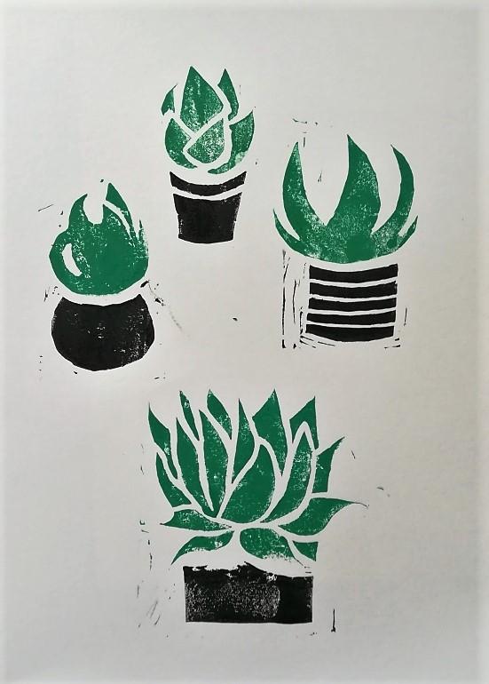 Urban Jungle_Linoleum Print (1)