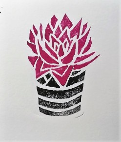 Urban Jungle Linoleum Print