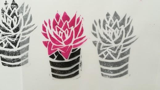 Urban Jungle Linoleum Prints