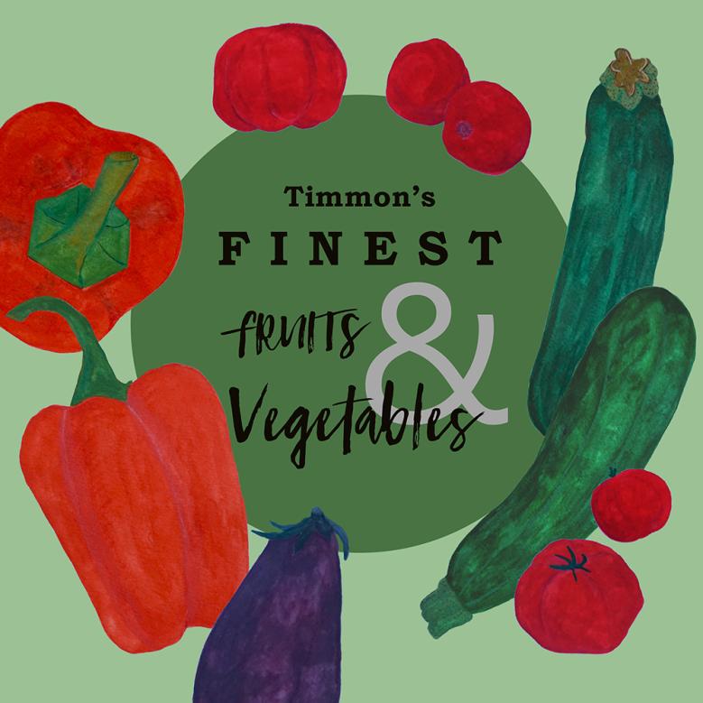 shop display summer vegetables