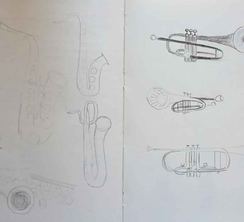Assignment 3: Initial sketches - Instruments
