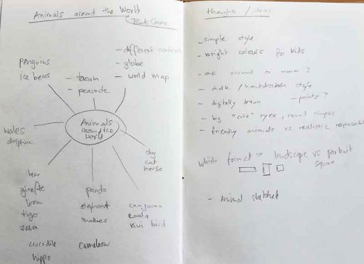 Animals around the world - sketchbook