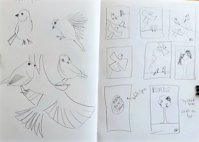 Museum Posters: Sketchbook - ideas for compositions